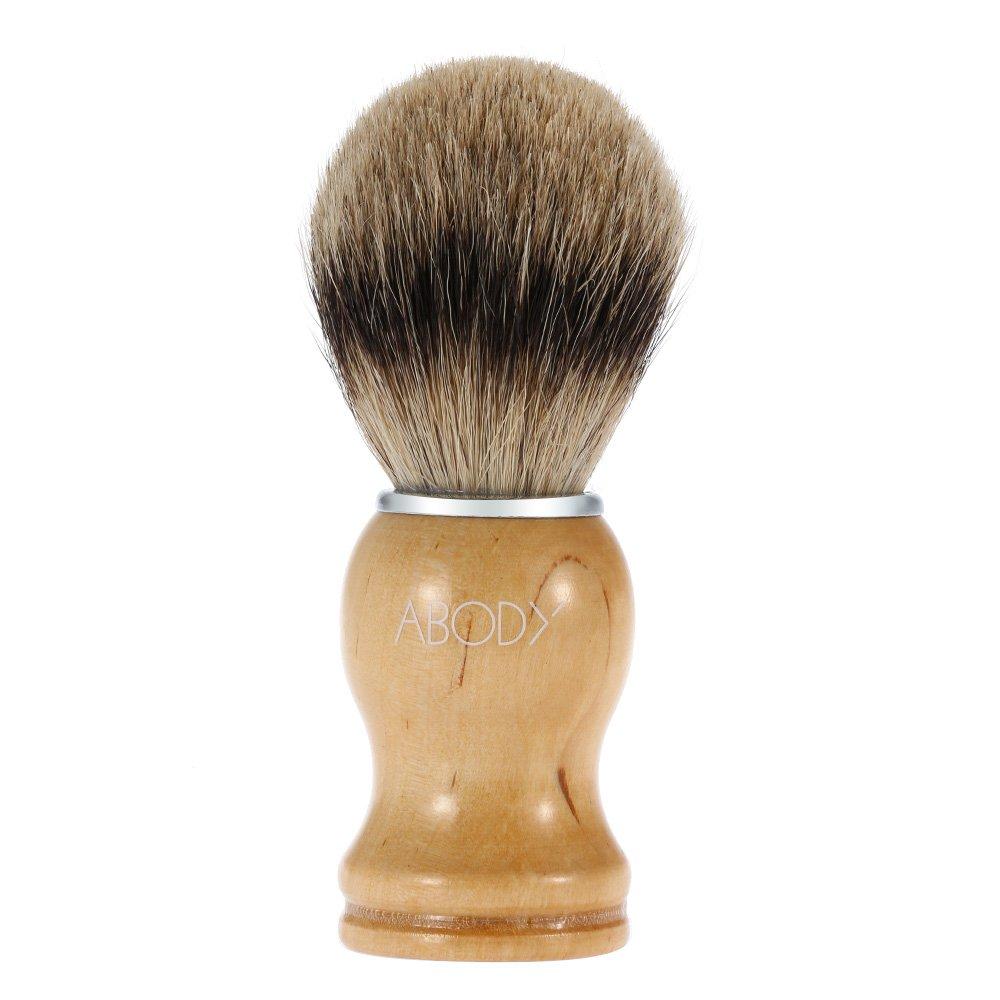 Abody Blaireau rasage brosse cheveux chez l'homme masculine pour barbe nettoyage rasage du visage brosse avec manche hêtre pour rasoir visage nettoyage outil