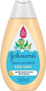 سائل استحمام الحماية النقية للاطفال من جونسون - 500 مل
