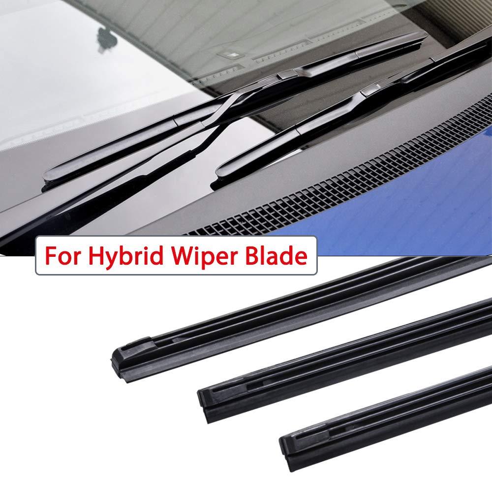 OTUAYAUTO Front Wiper Blade Refills 9mm cut to size For Honda CR-V CRV 2007-2011