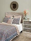 Mosaique Bleue ~ Moroccan Tile Print Blue Queen Duvet Cover 90x90
