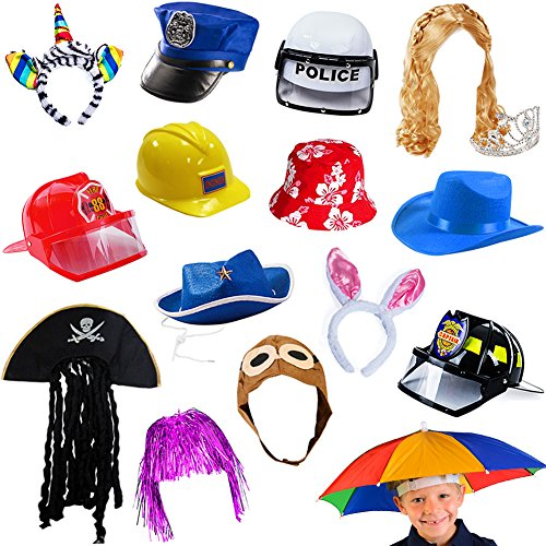 6 Assorted Dress Up Costume & Party Hats