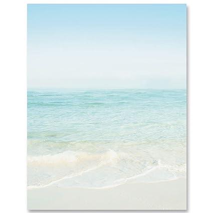 Seashore Scene Border Papeles, 8.5 x 11 pulgadas, 28lb Láser y ...