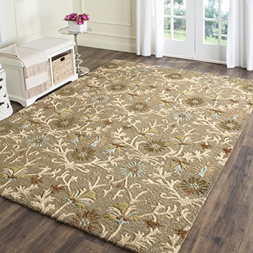 Safavieh Cambridge Collection CAM235A Handmade Moroccan Geometric Moss and Multi Premium Wool Area Rug (3′ x 5′)