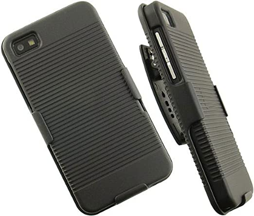 superior quality 8ffab 8d20e Clip Belt Stand Holster Case Cover for Blackberry Z10-black