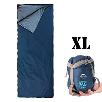 Saco de dormir para exteriores ieGeek, ultraligero y rectangular, bolsa de compresión multifunción,