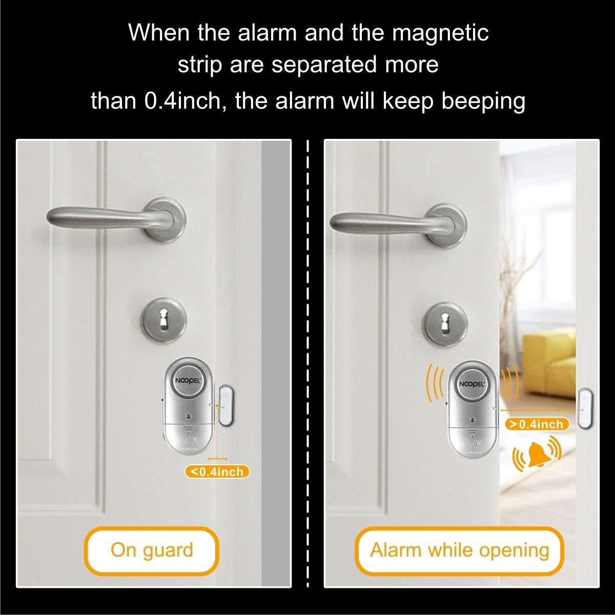New Version With Two Volume Levels Noopel Wireless Magnetic Burglar Intruder Entry Alarm For Kids Toddlers Indoor Personal Safety Window Door Alarm 2 Pack Door Window Sensors Diy Tools Tennesseegreenac Com