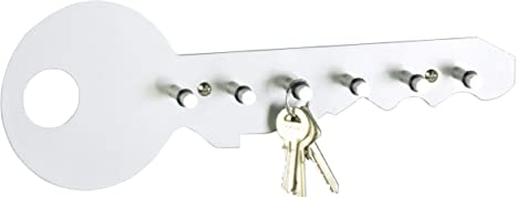 Zeller Edelstahl Schlüsselboard Schlüsselbrett Schlüsselhalter Hakenleiste