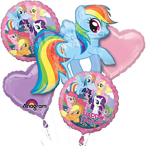 [My Little Pony Balloon Bouquet (5 Pack) - Party Supplies] (Group Of 5 Halloween Costume Ideas)