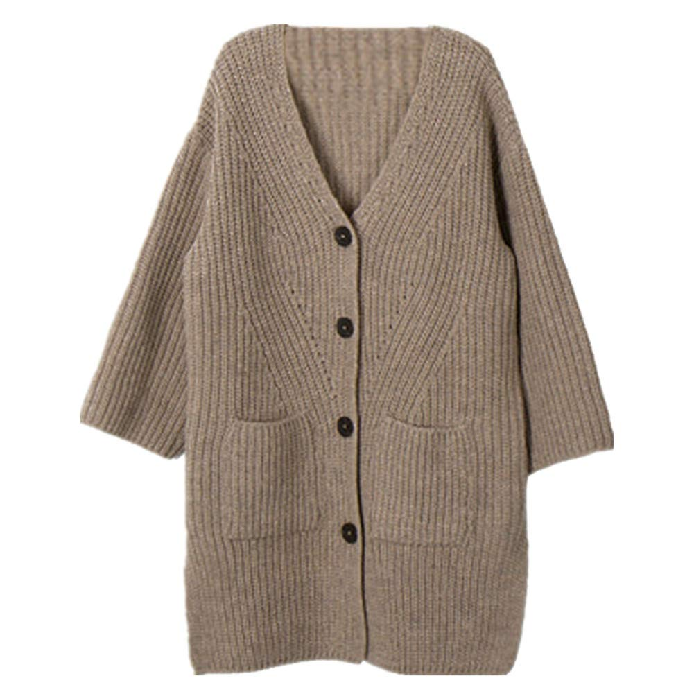 RACHAPE Little Girls' Long Sleeve Sweater Cardigan Winter Jackets Knit Pullover Hoodies