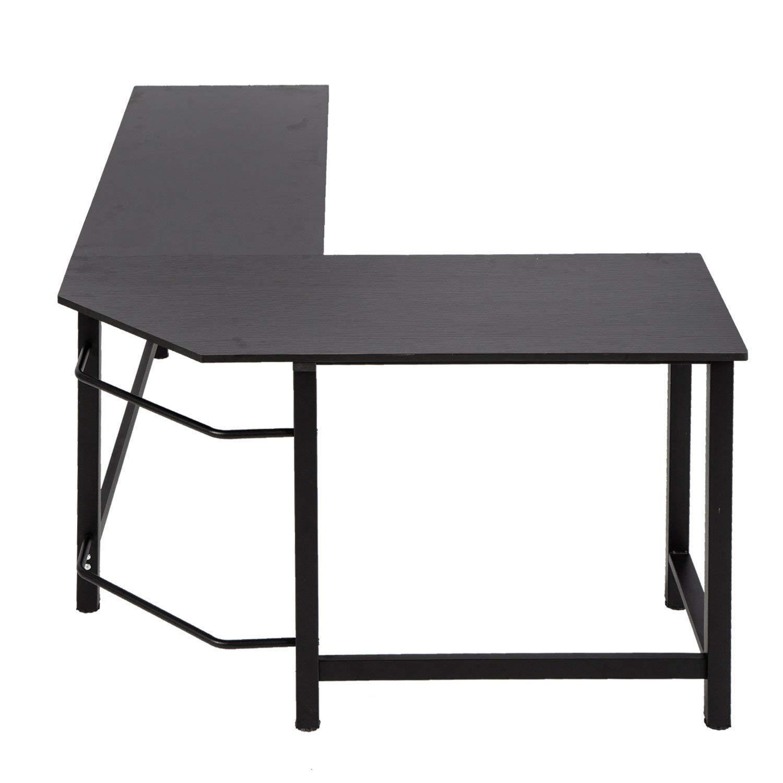 Kinbor Modern L-Shape Corner Office Computer Desk PC Laptop Table Workstation Study Table Home Furniture Black by Kinbor (Image #6)