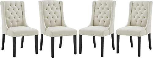 Upholstered Dining Chairs Modern Button Tufted Dining Chairs Wingback Accent Chairs Kitchen Chair
