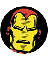 "Iron Man Head - Marvel Comics - Pinback Button 1.25"""
