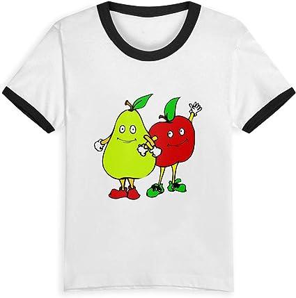 Queen Elena - Camiseta de Manga Corta para niños, diseño Floral de piña, 2 a 6 años, algodón, Color contrastante Negro Negro (3 años: Amazon.es: Ropa y accesorios