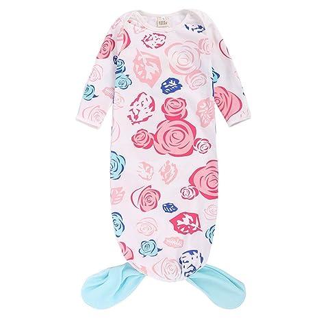 Saco de dormir para bebé recién nacido, manta de manga larga con diseño de cola