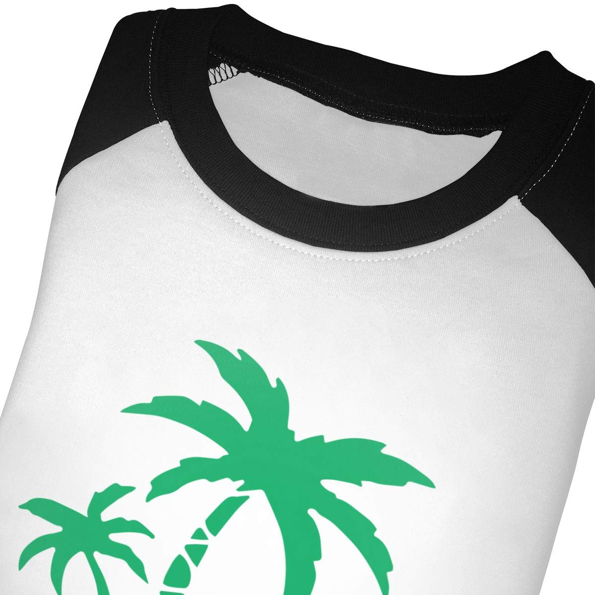 Boys Girls Kids /& Toddler Hawaiian Palm Tree and Sea Turtle Long Sleeve Tees 100/% Cotton