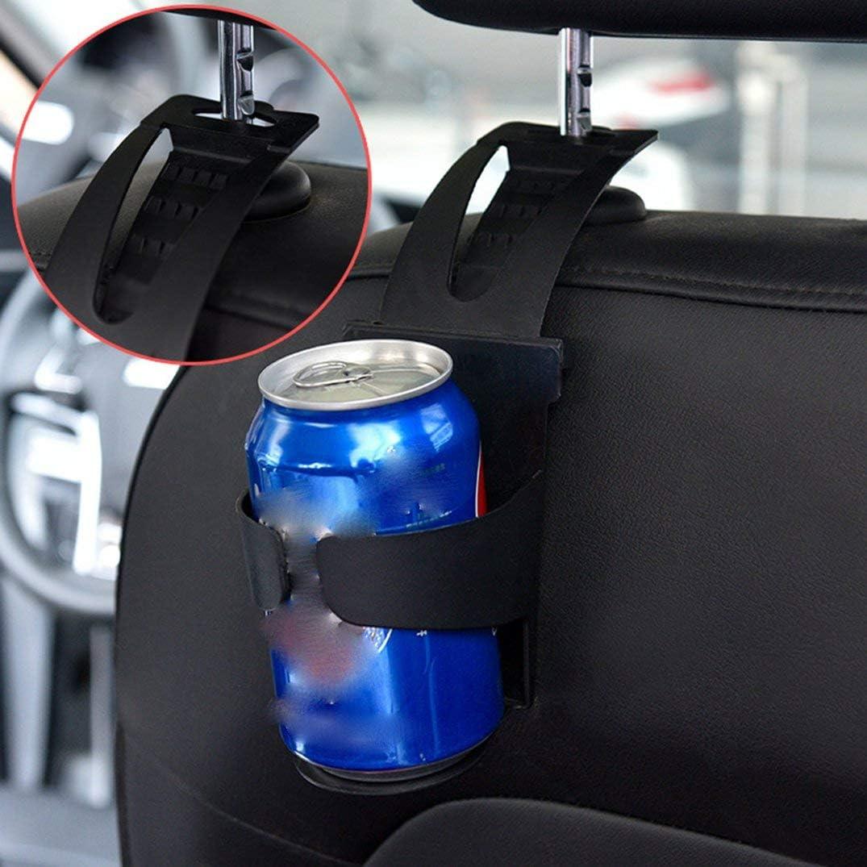 Justdodo Supporto Multifunzionale per portabicchieri per Auto Supporto per Bevande per Auto Vano Porta Cellulare per Auto Tre in Uno