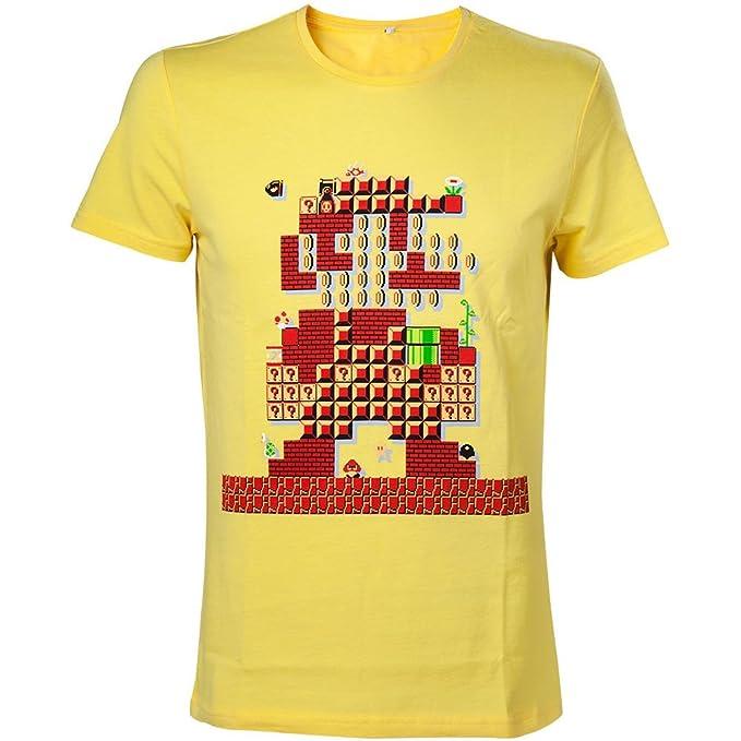 Nintendo Oficial de Hombres de Super Mario Bros diseño 30 Aniversario Camiseta  Retro  Amazon.es  Ropa y accesorios 14a17e1b739