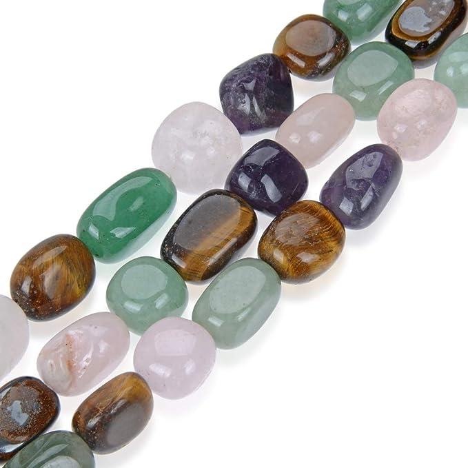 "Natural Rose Quartz Nugget Beads 15/"" Strand Oz Seller"