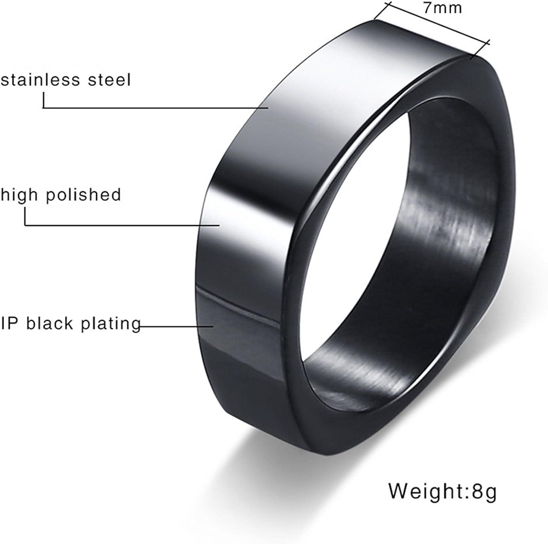 Novelty Ring KnSam Men Stainless Steel Wedding Bands Masonic Comfort Fit Black