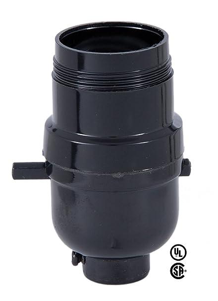 B P Lamp Push Thru Phenolic Socket Med Base With Uno