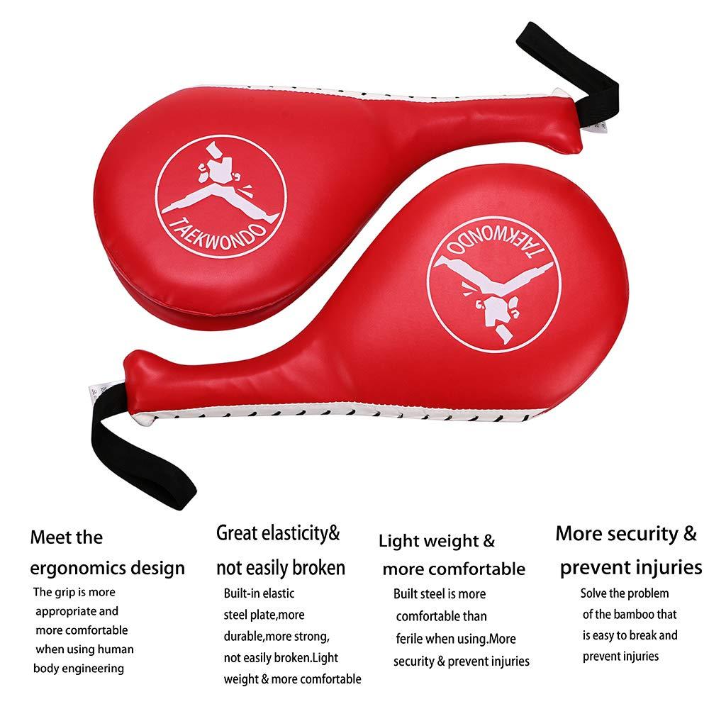 IGNPION 1/par de almohadillas de entrenamiento de patadas en taekwondo kickboxing MMA; pr/áctica de doble patada; equipamiento para artes marciales; palas acolchadas. mit k/árate