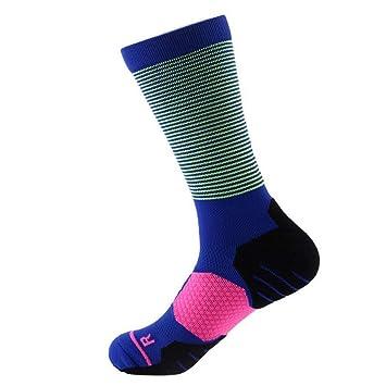 GKKXUE Calcetines Altos de Baloncesto para Hombres Calcetines Deportivos y de Ocio para (Color :