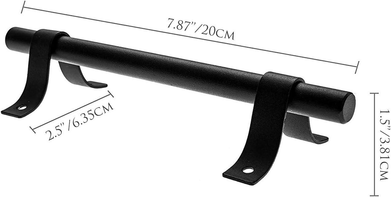 La Vane 23cm Antik Rustikal Scheunen T/ürgriff Hardware Schiebet/ür Griff einfache Installation f/ür K/üchen M/öbel Schrank Schmutzabweisend