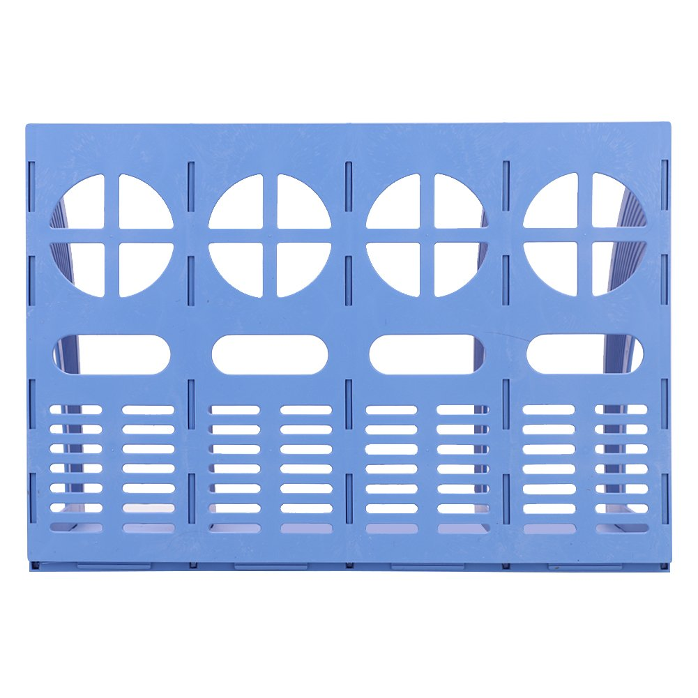 Desktop File Organizer Office Home Portable Folder Holder Vertical 4 Compartment Magazine Storage Bins Crate for Supplies