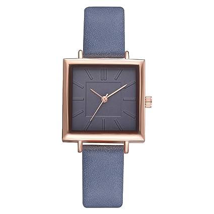 Amazon.com: Reloj de pulsera cuadrado de cuarzo de acero ...
