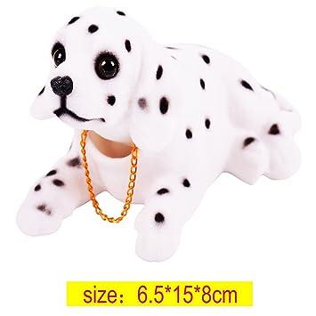 CUGLB Coche Interion Decoración Oscilante Cabeza Dalmatians Con Forma Perro Que Asiente Con La Cabeza