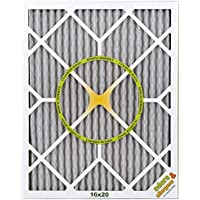 BestAir PF1620-1 Furnace Filter, 16 x 20 x 1, Carbon Infused Pet Filter, MERV 11, 6 pack