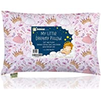 Toddler Pillow with Pillowcase - 13X18 Soft Organic Cotton Baby Pillows for Sleeping - Machine Washable - Toddlers, Kids…