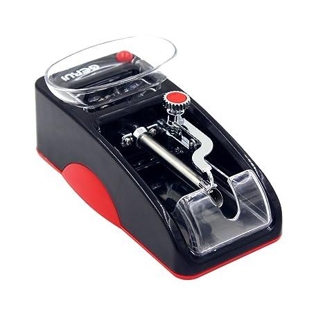 Yontree Máquina de Tabaco Electrica Manual Automática Accesorios de Cigarrillos Color Negro y Rojo