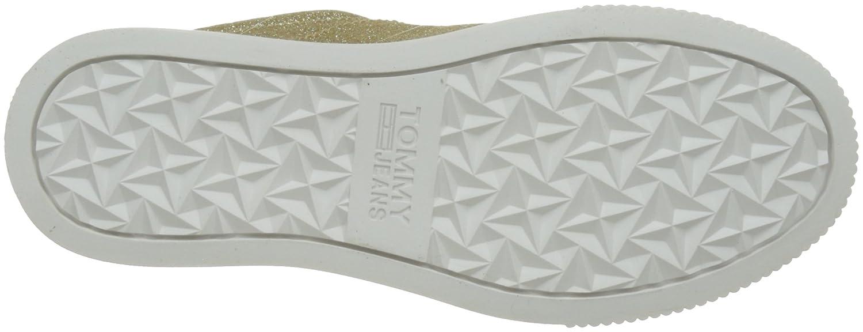 Hilfiger Denim Denim Hilfiger Damen Tommy Jeans Glitter Sneaker Gold (Gold Glitter 903) 102f67