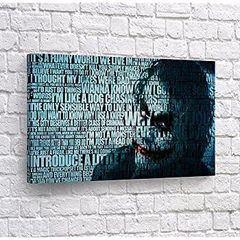 Amazon.com: Heath Ledger Joker Quotes Mix Canvas Print