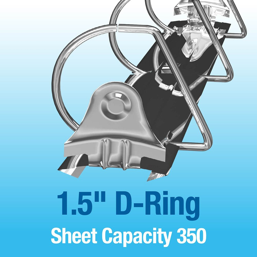 Navy, 2 6 Pack Angle D Ring Binder Premium Economy