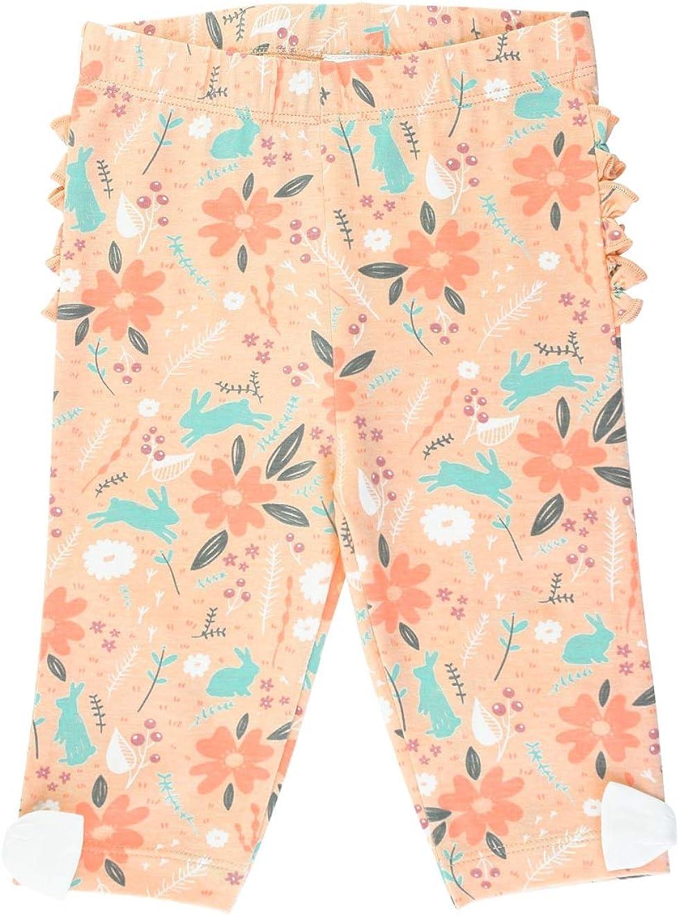 RuffleButts Baby//Toddler Girls Stretchy Capri Leggings with Bow