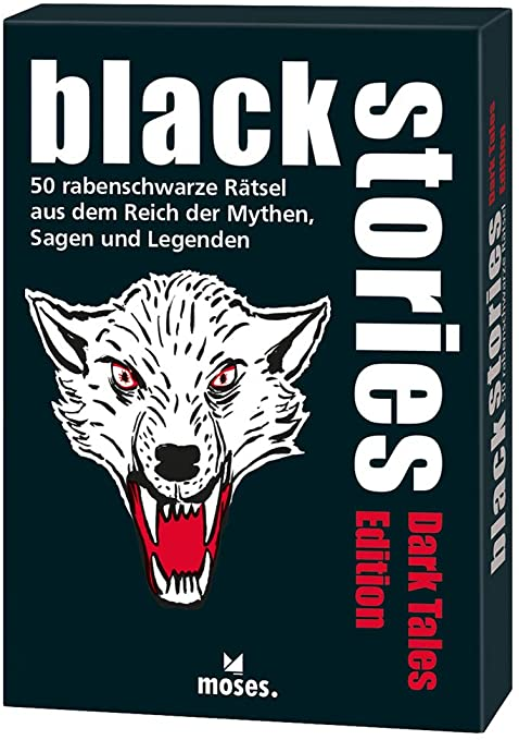 50 rabenschwarze R/ätsel moses Das Krimi Kartenspiel black stories Dark Tales Edition