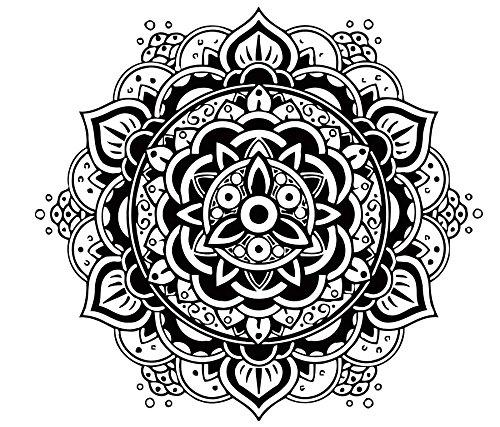 Vinilo de pared, diseño de Mandala Indio, Patrón Yoga OUM Símbolo ...