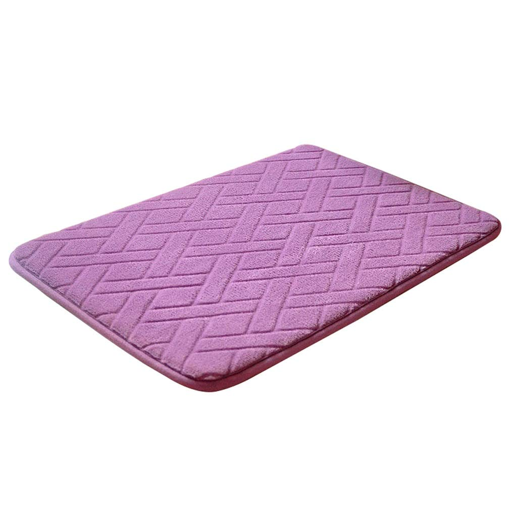 Purple-1 4060CM Non-Slip Coral Suede Carpet Door Mat Home Kitchen Bathroom Living Room Carpet Mat Multi-Size Multi-color Optional (color   Brown-2, Size   60  180CM)