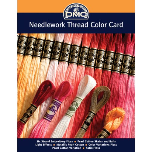 DMC COLORCRD Needlework Threads 12-Page Printed Color - Chart Size Card