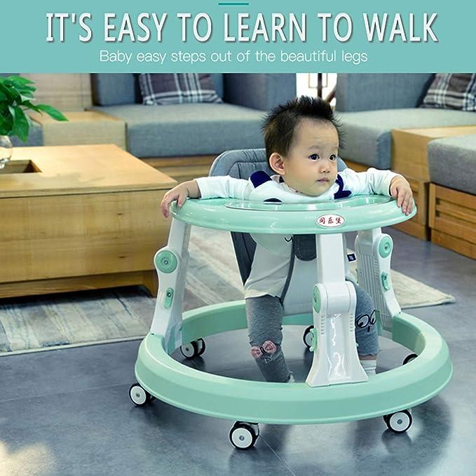 Andador de bebé con seis ruedas multifunción para niños, con un ...