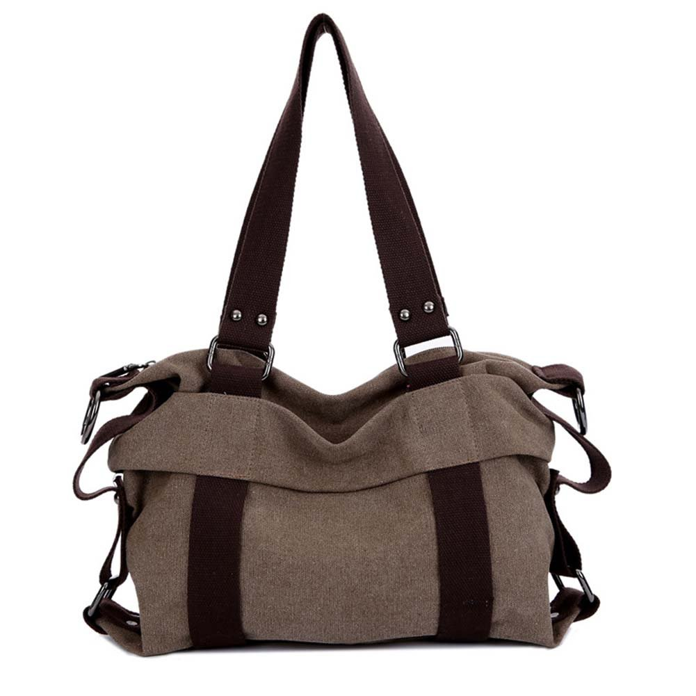 Top Shop Womens Travel Canvas Shoulder Handbags Casual Tote Hobos Messenger Brown Bags by TOP SHOP BAG