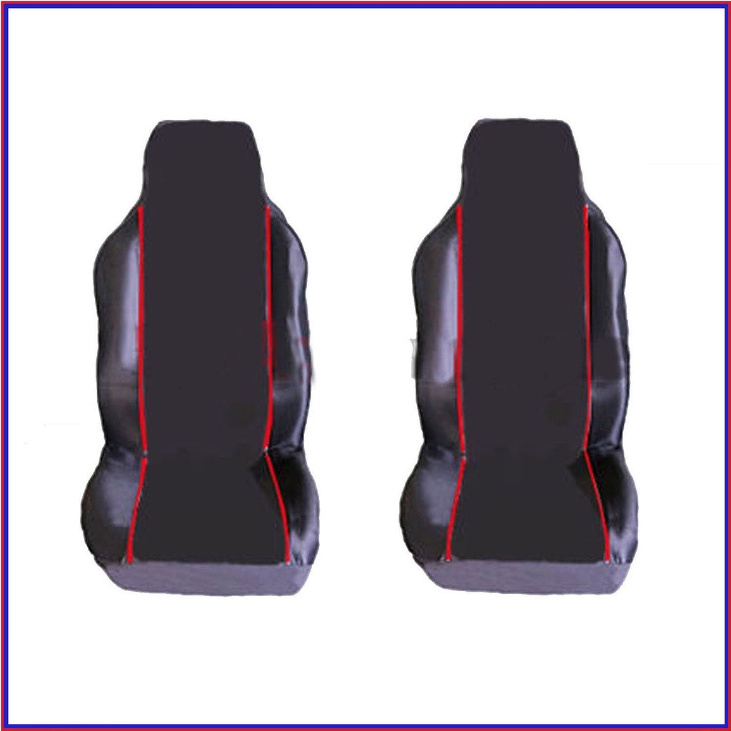 CITROEN C1 2005 on PREMIUM FABRIC SEAT COVERS RED PIPING 1+1