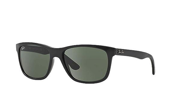 2ee3679ef65 Amazon.com  Ray-Ban RB4181 Sunglasses Black Crystal Green