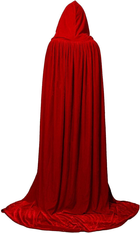 Deluxe Cape Halloween Vampire Fancy Dress Cloak Medieval Witchcraft Robe Costume