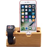 Apple watch とIphone 充電スタンド 2in1充電スタンド38mm/42mm 対応 アップルウォッチ スタンド/高品質木調充電