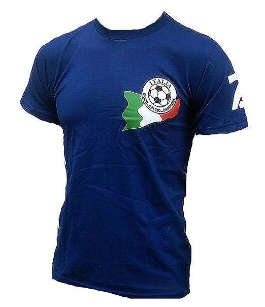 TICILA Hombre Camiseta de Italia Italia Italy Forza Squadra Azzurra Azzurri Fútbol WM EM Designer Fan