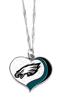Amazon nfl dallas cowboys star pierced football pendant 14 philadelphia eagles sports team logo glitter heart necklace aloadofball