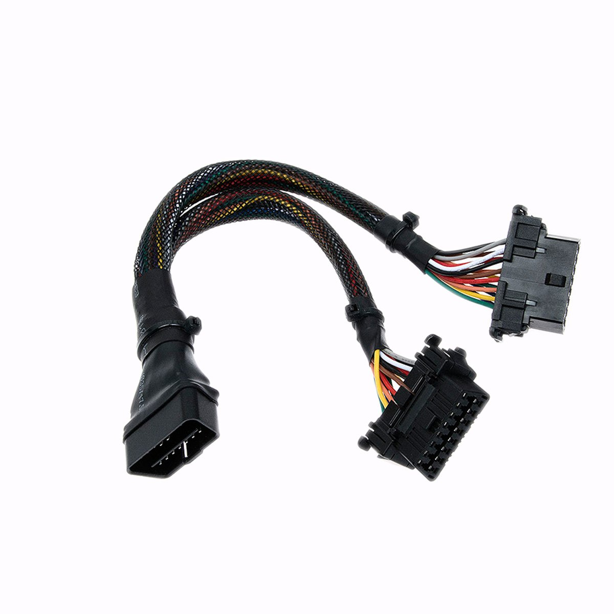 Fotag 16 Pin Obd2 Obdii Splitter Extension Cable Adapter Toyota Obd Connector Location Male To Female Y 1ft 30cm Automotive
